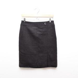 Ann Taylor Pencil Skirt 2 Grey Wool Career